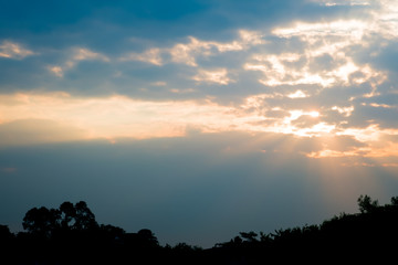 Sunrise in the morning sky.