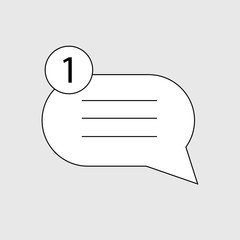 message line  icon, mail outline flat icon