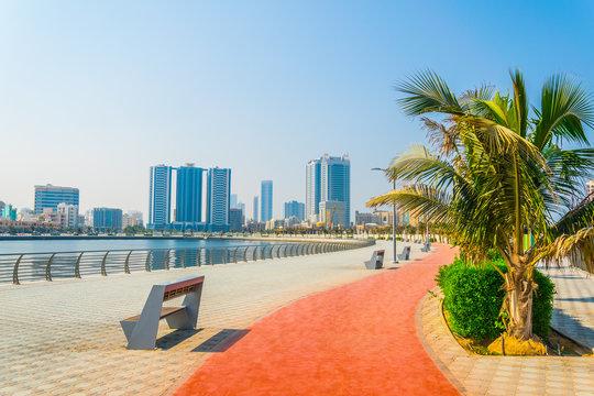 seaside promenade in Ajman, UAE
