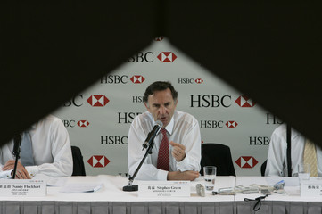 HSBC Holdings plc Group Chairman Stephen Green speaks during a news conference in Hong Kong