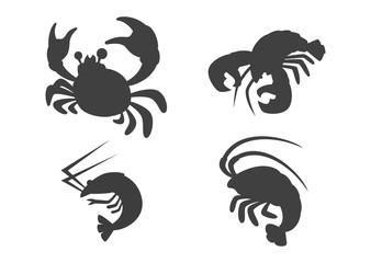 食材シルエット(甲殻類)