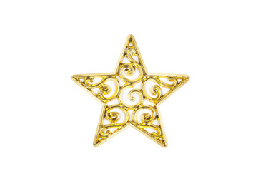 Star gold on white background