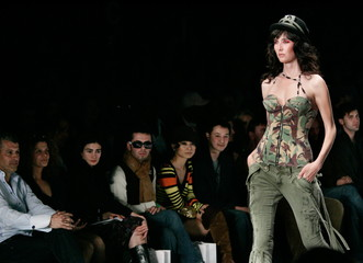 A model walks the runway at the Taverniti So Jeans fashion show of the fall 2006 collection at Smash..