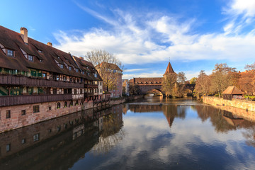 Nuremberg Autumn Fall Old Town
