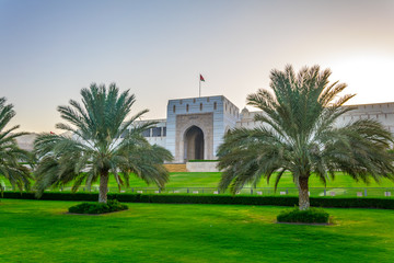 View of the parliament building in Muscat, Oman.