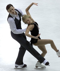 RUSSIAN SKATERS TOTMIANINA AND MARININ PERFORM THEIR PAIRS FREE PROGRAMDURING THE FIGURE SKATING ...
