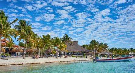 Mexican Beach of Akumal a.k.a. The Turtle Beach / Caribbean Sea of Quintana Roo in Mexico