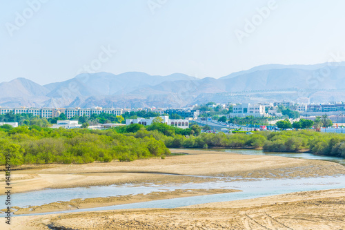 Wetlands in Muscat, the capital of Oman