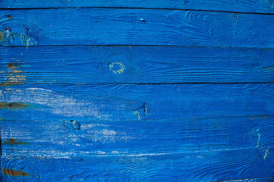 Wood plank blue texture background