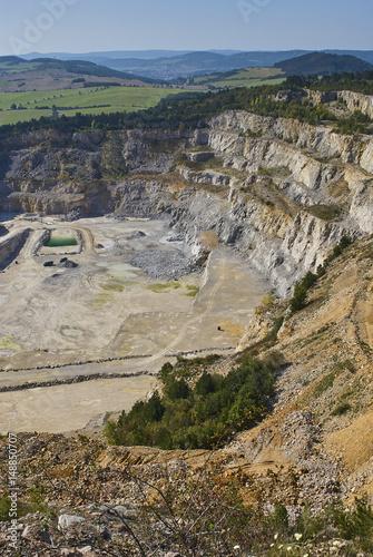 Limestone mine in Koneprusy, Czech Republic  Deep opencast