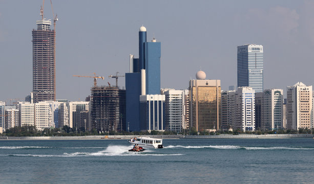 A general view of the Abu Dhabi skyline