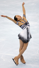 Japan's skater Sawada performs her free skating program during Bompard Trophy event at Bercy in Paris
