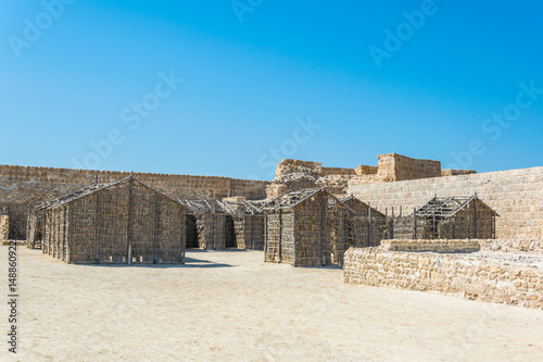 Interior of the Bahrain fort complex with the Qal'At Al