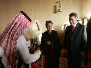 Austrian President Heinz Fischer and his wife visit historic town of Dirriyah in Saudi Arabia
