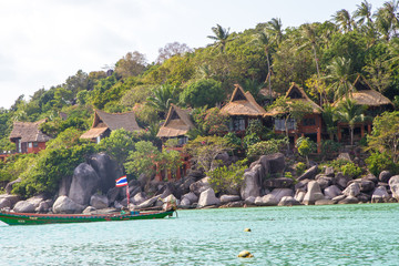 Kho Nang Yuan resort Island in Koh Tao - a paradise island in Thailand.