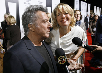Dustin Hoffman and Emma Thompson are interviewed at the premiere of Stranger than Fiction in Los Angeles