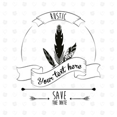 save the date rustic poster decorative element design vector illustration