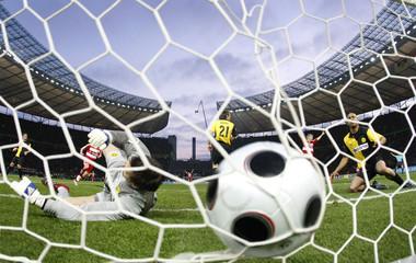Borussia Dortmund's Ziegler reacts after Bayern Munich's first goal during their German soccer cup DFB Pokal final in Berlin
