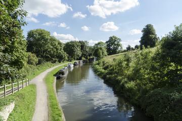 Kennet and avon canal near Bath UK.