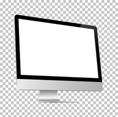 Realistic computer on a isolated background. Stock vector