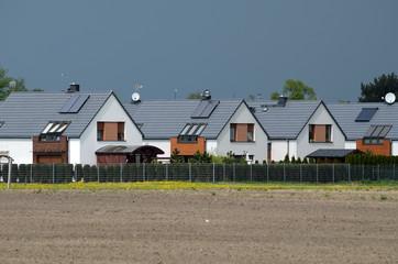 Fototapeta New housing estates on suburb obraz