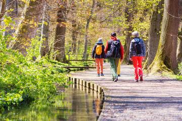 Senioren beim Wandern / Laufen