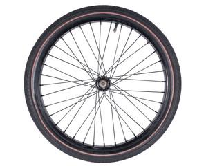 Fototapeten Fahrrad bicycle wheel set isolated on white background