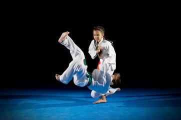 Children martial arts fighters