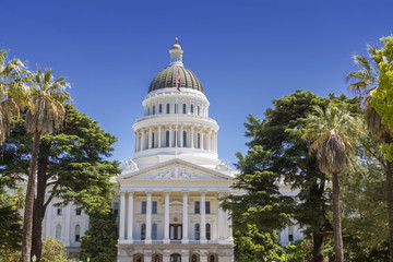 Bright Sunny Day of California State Capitol Building
