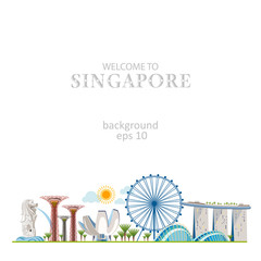 singapore panorama horizontal view city street background cityscape set design info