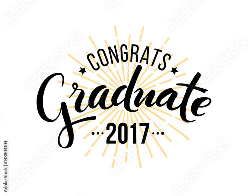 congratulations graduate 2017 vector isolated elements for