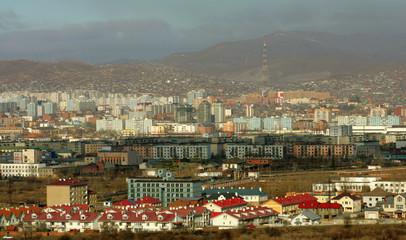 A general view of the Mongolian capital of Ulan Bator, November 19, 2005.[ US President George W. Bu..