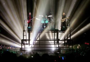 "Hong Kong soul rock band ""Beyond"" performs at their farewell concert in Hong Kong."