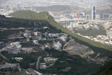 Luxury housing project in suburb of San Pedro Garza in Monterrey is seen