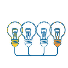 bulbs lights icon over white background. vector illustration