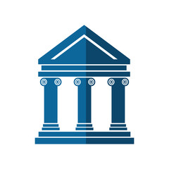 bank building icon over white background. vector illustration