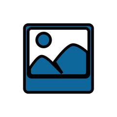 Photo of landscape vector illustration design icon