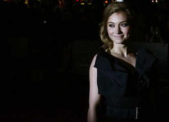 British actress Imogen Poots arrives for the UK premiere of Cracks in Leicester Square in London