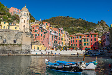 Colourful Vernazza in National park Cinque Terre, Liguria, Italy