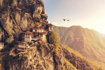 Tiger's nest Temple or Taktsang Palphug Monastery (Bhutan) Wall mural