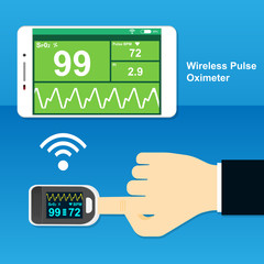 wireless pulse oximeter measurement with smartphone