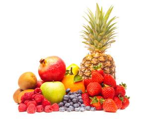 Mixed Fruit On White