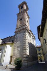 campanile della chiesa di san giuseppe ad alba in provincia di cuneo piemonte italia europa italy europe