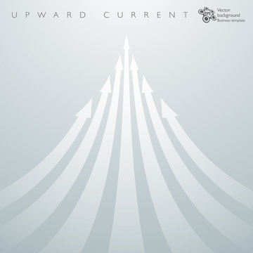 Infographic Background Upward Current _ White Arrows