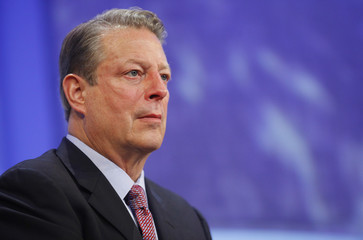 Former U.S. Vice President Al Gore participates in a panel discussion at the Clinton Global Initiative in New York