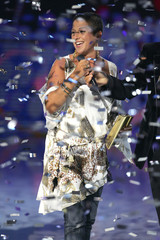 French singer Diams receives an award during the NRJ Music awards ceremony in Cannes