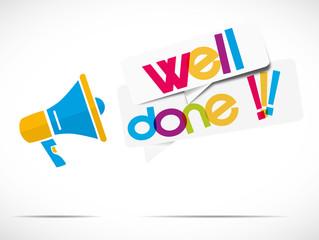 megaphone : well done !!!