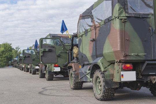 Bundeswehr Autokolonne