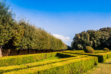 Les jardins Leonini Dans le village de San Quirico en Toscane