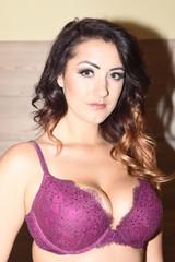 Hot Model in Purple Lingerie